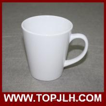 Impresión en blanco 12oz blanco cono taza de transferencia de DIY
