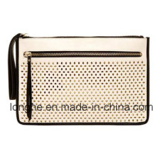 Front Laser Punching Contrast Color Clutch (LY0225)
