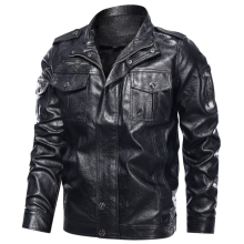 Men's PU Leather Trucker Jackets High Quality