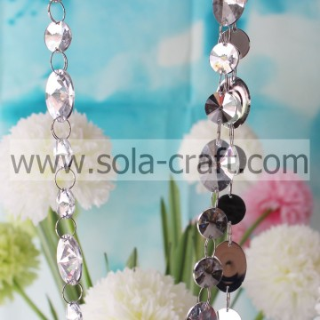 1M Crystal Garlands Wedding Centerpiece With Artificial Crystal Faceted Flat Round Beads String