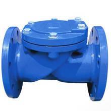 Чугун качания одиночного диска резиновое мягкое уплотнение Фланец Клапан (GAH44X)