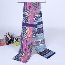 Lady Fashion Printed Satin Seide Magie Mutifuntional Cravat Schal (YKY1091-17)