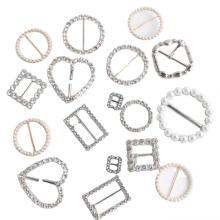 Boucle de ceinture en alliage de zinc avec perles et pierres