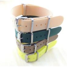 Courroie de montre d'acier inoxydable de Yxl-453 18mm, sangles de bande de Nato de courroie de montre de courroie de montre d'OEM de coutume de courroie de montre