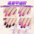 2018 neues Produkt! Großhandel 31 Grad thermochromes Nagelgel / schnell trocknendes UV-Gel mit allen Farbeffekten und umweltfreundlicher