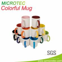 11oz Inner & Handle Farbe Becher, Grade B, Mt-B002hb, SGS & FDA genehmigt