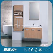 Vanidad de gabinete de baño de madera maciza de diseño moderno