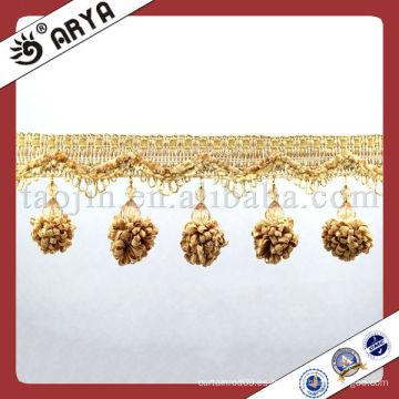 Hermosa y elegante cortina perlas borla, borde de ajuste con colgante de flores