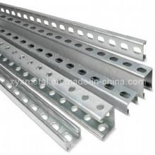 C Shape Steel Profile Section Slotted Unistrut Channel