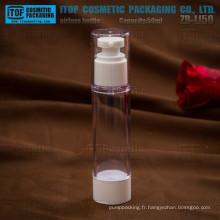 ZB-LI50 rond flacon pompe airless acrylique 50ml, 50ml couleur haut de gamme personnalisable mince et hauteur 50 ml