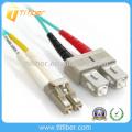 SC-LC OM3 10G Cabo de conexão de fibra óptica