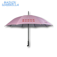 Custom Pink Anti UV Chinese Manufacturers Direct sales Wholesale 23 Inch Fiberglass Double Ribs Long Handle Umbrella Custom Logo