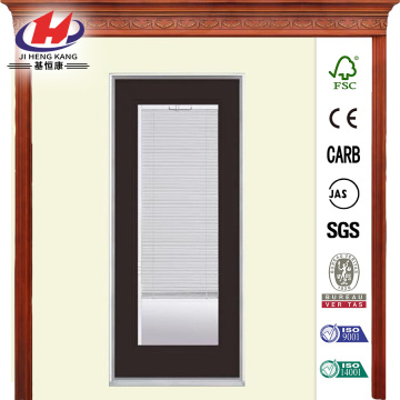 Premium Full Lite Mini Blind Primed Steel Prehung Front Door