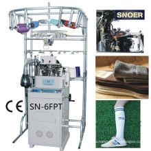 Largo deportes llano y Terry calcetines máquina para hacer punto