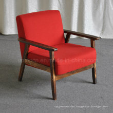Modern Leisure Wooden Frame Hotel Lobby Cafe Armchair (SP-HC437)
