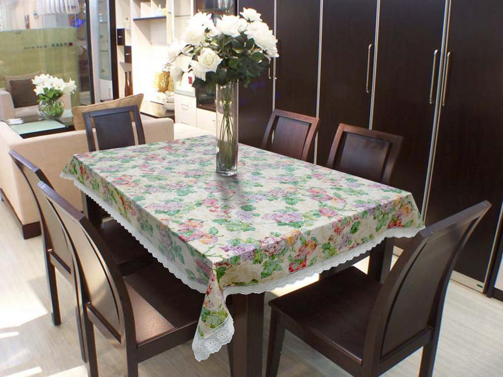 Tnt Readymade Tablecloth with 2 Inch Lace Edge
