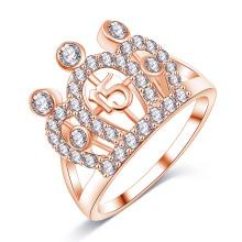 Anéis de coroa leal diamante cz para as mulheres (cri01004)