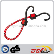 Elastic Red 10MM Luggage Strap With Hooks