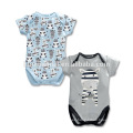 2016 100% cotton wholesale 2 pcs set baby summer romper with short sleeve