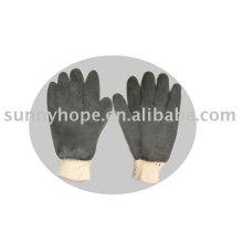 Неопреновые перчатки с шероховатой отделкой для химических полей