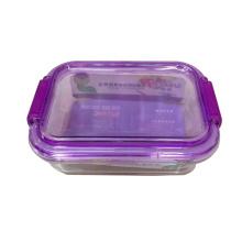 Tazón de fuente de ensalada de cristal colorido de alta calidad de la tapa