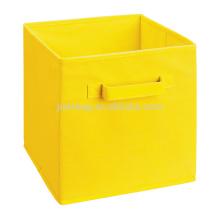 Yellow fabric shelfs storage bins with drawers lids cheap