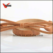 Newest design popular Butterfly Knot pu belt