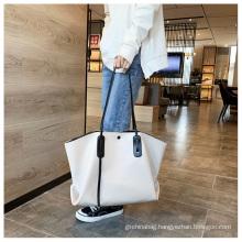 2021 new fashionable portable shoulder bag large capacity women's bag fashionable versatile PU Tote Bag