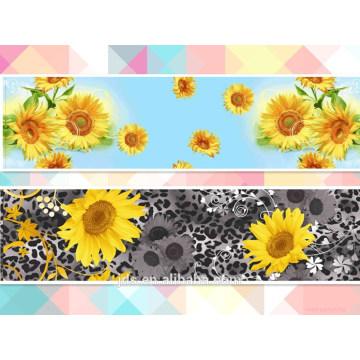Sunflower design 100% polyester printed fabric