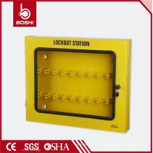 Station de verrouillage de l'étiquette de sécurité de conception durable