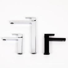 Single Lever Highspout Basin Mixer with Black Marble Decotation Deck Mounted Chrome Taps Bathroom Sink Faucet Basin