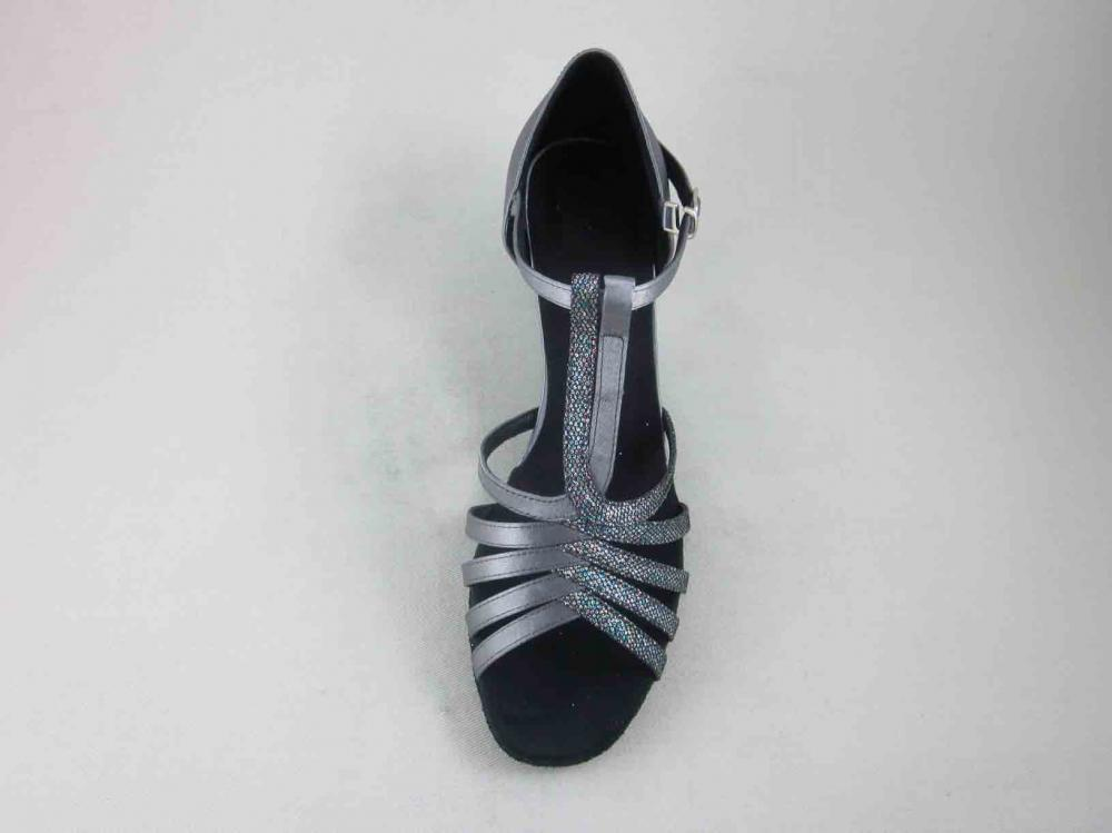 Ladies Grey Satin Dance Shoes Au