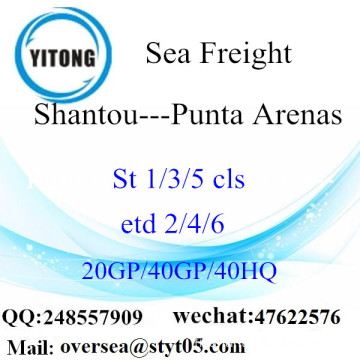 Shantou Port Sea Freight Shipping To Punta Arenas