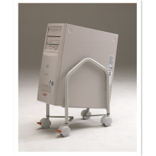 Adjustable Under Desk CPU Holder with Wheels CPU Stand