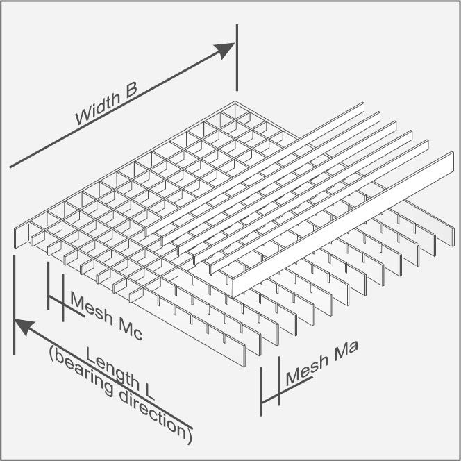 Galvanized Floor Steel Gratings