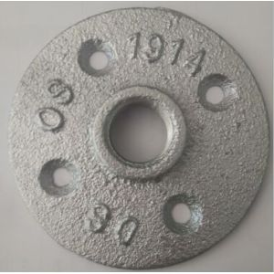 malleable galvanized pipe fittings floor flange 1/2