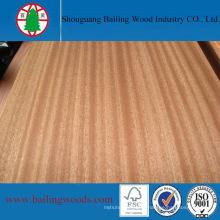 Contreplaqué naturel de chêne rouge / placage de Sapele pour des meubles