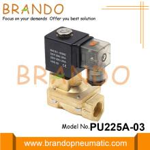 Válvula solenoide de latón de 3/8 '' 24VDC PU225A-03 tipo Shako