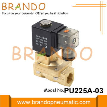 3/8 '' 24VDC PU225A-03 Électrovanne en laiton de type Shako