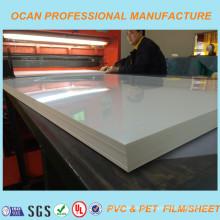 Folha de PVC Branco Brilhante, Folha de PVC Rígido para Painel Sanwich