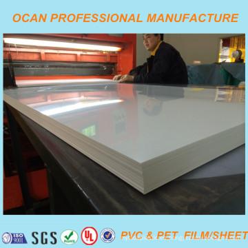 Hoja blanca de PVC brillante para material de impresión