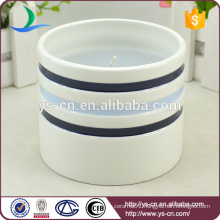 Round ceramic cheap candle holders for gifts