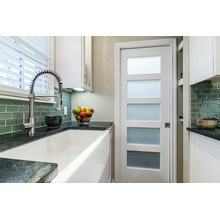 5 Panel de vidrio Despensa Puerta blanca Cocina