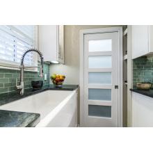 5 painéis de vidro despensa cozinha porta branca