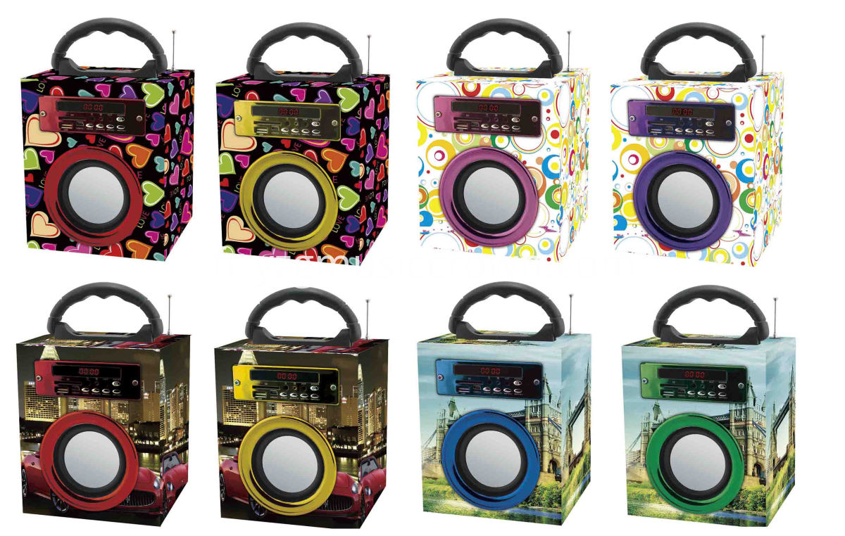 8 colors speaker option