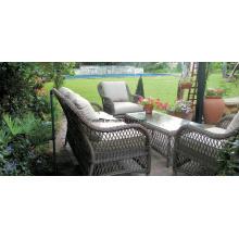 4 PC Garten Outdoor Wicker Rattan Sofa Möbel Set