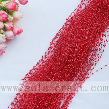 Mix Color 3MM Plastic Pearl Garland Rideaux pour Wedding Centerpiece Decoration Craft DIY