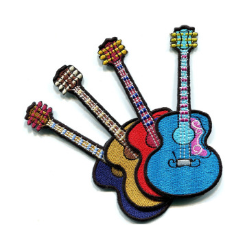 Patches de bordado de instrumento musical de guitarra