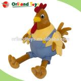 Plush yellow chicken wholesale custom cute soft stuffed plush chicken toy