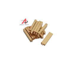 Printing machinery parts Brass letter 2*3*15mm and 2*4*15mm hot stamp brass alphabets and numbers